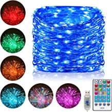 Ollny LED String Lights 200 LED 66 FT Color Changing RGB Copper Wire Fairy Lights USB Powered with 10 Colors 64 Functions ...