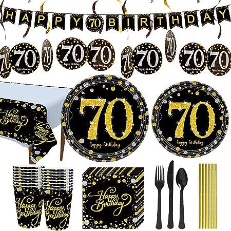 Multicolor Amscan 541964 Sparkling Celebration 70 Paper Dessert Plates 8Ct 7