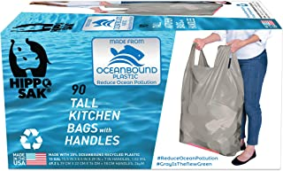 Hippo Sak Tall Kitchen Bags Made with Recycled Ocean Plastic (90 count)