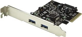 StarTech.com Dual Port USB 3.1 Card – 2X USB-A – 10Gbps per Port – Expansion Card – PCI Express USB Card – PCI-e to USB (PEXUSB312A2)