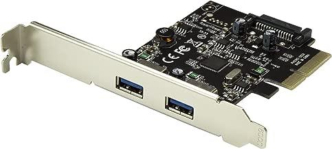 StarTech.com Dual Port USB 3.1 Card - 2X USB-A - 10Gbps per Port - Expansion Card - PCI Express USB Card - PCI-e to USB (PEXUSB312A2)