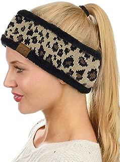 Soft Stretch Winter Warm Cable Knit Fuzzy Lined Ear Warmer Headband