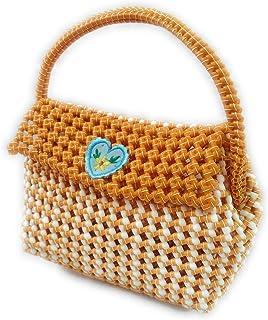 Kids handbag, Plastic wire handbag, Multi purpose Handmade Plastic wire washable multicolour handbag for kids, Girls and w...