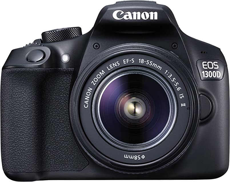 Canon EOS 1300D DSLR Camera with EF-S18-55 IS II F3.5-5.6 Lens - Black (Refurbished)