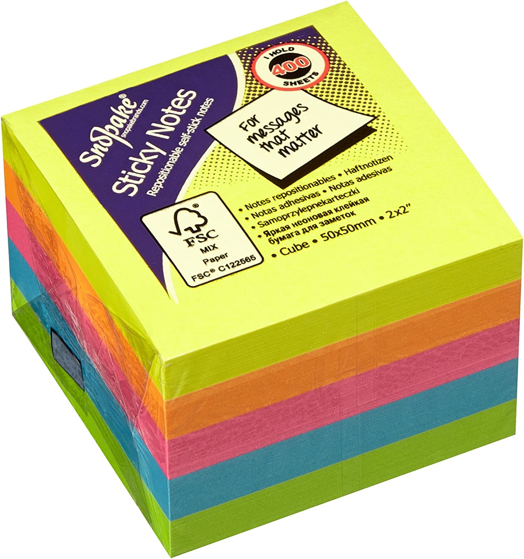Snopake 51 mm x x x 51 mm Cube Sticky Note – Neon sortiert (24 Stück) B00911X22C | Schöne Farbe  | Economy  | Online Store  413718