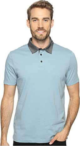 Pima Chambray Polo Shirt