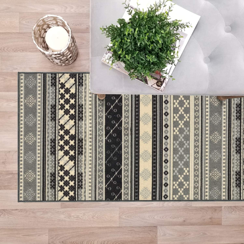 Custom Size Grey Turkish Kilim Hallway Non-Slip Backed Rubber St Quality inspection favorite