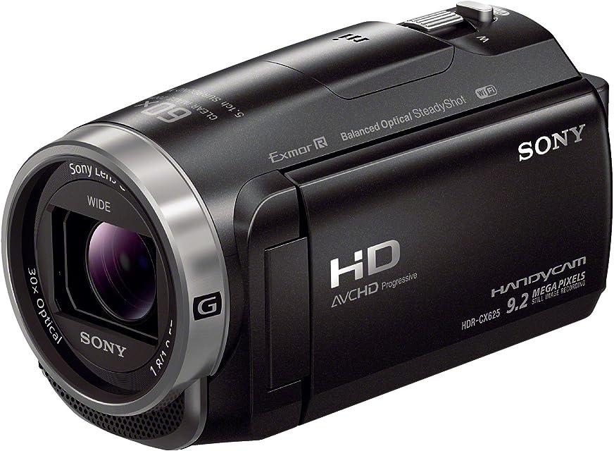 Sony HDRCX625B.CEN - Videocámara (Sensor Exmor R CMOS Zoom óptico de 30 aumentos XAVC S Balanced Optical SteadyShot con 5 Ejes y cámara Lenta) Negro