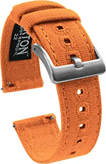 Barton Canvas Quick Release Watch Band Straps - Choose Color & Width - 18mm, 19mm, 20mm, 21mm, 22mm, or 23mm