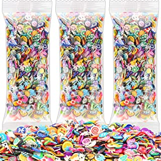3000 Pcs Nail Art Slices,FANDAMEI Cute Design 3D Nail Art Stickers Fimo Fruits Animals Flowers Emoji Nail Art Slices for DIY Crafts, Nail Art and Cellphone Decoration