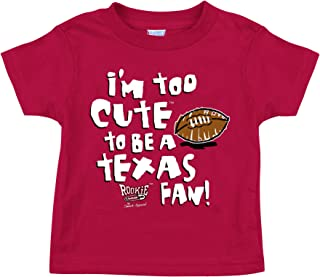 Oklahoma Sooners Fans. Too Cute to Be a Longhorns Fan Cardinal Onesie and Toddler Tee (7T)