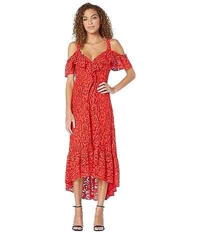 BCBGMAXAZRIA High-Low Lace Dress (Scarlet) Women