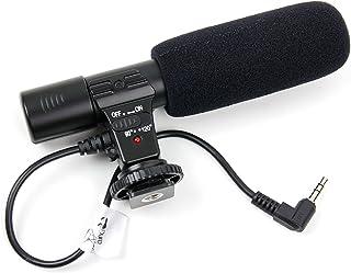 DURAGADGET Micrófono para cámara Canon EOS 800D/Rebel T7i Canon EOS 80D Canon EOS M6 - Grabación estéreo