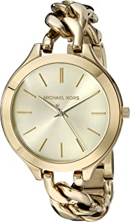 Michael Kors Slim Runway Women's Gold Dial Stainless Steel Band Watch - MK3222