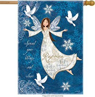 Briarwood Lane Rejoice Angel Winter House Flag Religious Primitive 28