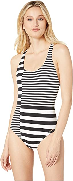 Stripe Group Racerback One-Piece