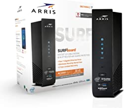 $172 Get ARRIS SURFboard (32x8) Docsis 3.0 Cable Modem Plus AC2350 Dual Band Wi-Fi Router, 1.4 Gbps Max Speed, Certified for Comcast Xfinity, Spectrum, Cox & More (SBG7600AC2)