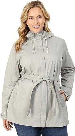 Plus Size Pardon My Trench™ Rain Jacket