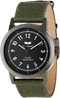 Unisex ABC3C01 Alpha Bravo Stainless Steel Watch with Canvas Band