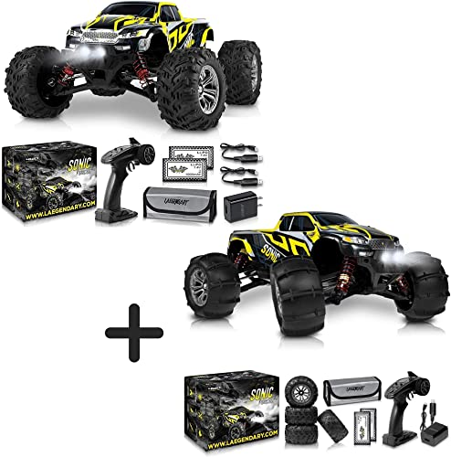 2021 1:16 wholesale Scale Large discount RC Cars 40+ kmh Speed and 1:16 Scale Large RC Car Brushless 60+ kmh Speed - Boys Remote Control Car 4x4 Off Road Monster Truck Electric - Waterproof Toys Trucks for Kids and Adults outlet online sale