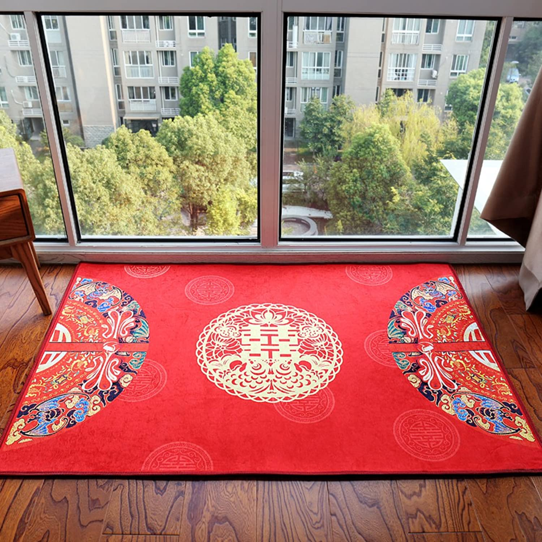 New style modern style wedding mat [marry] Festive door home door foot mat Entrance Lobby guest-B 80x120cm(31x47inch)