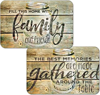 Counterart Set of 4 Reversible Wipe Clean Placemats Family Time