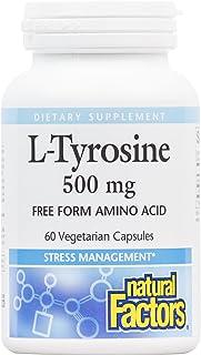 Natural Factors L-Tyrosine 500 mg 60 Vegetarian Capsules