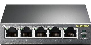 TP-Link Poe Switch, 5 Porte 10/100 Mbps, 4 Porte Poe, Fino a 15.4W per Ogni Porta Poe e 58W per Tutte Le Porte Poe, Non Ri...