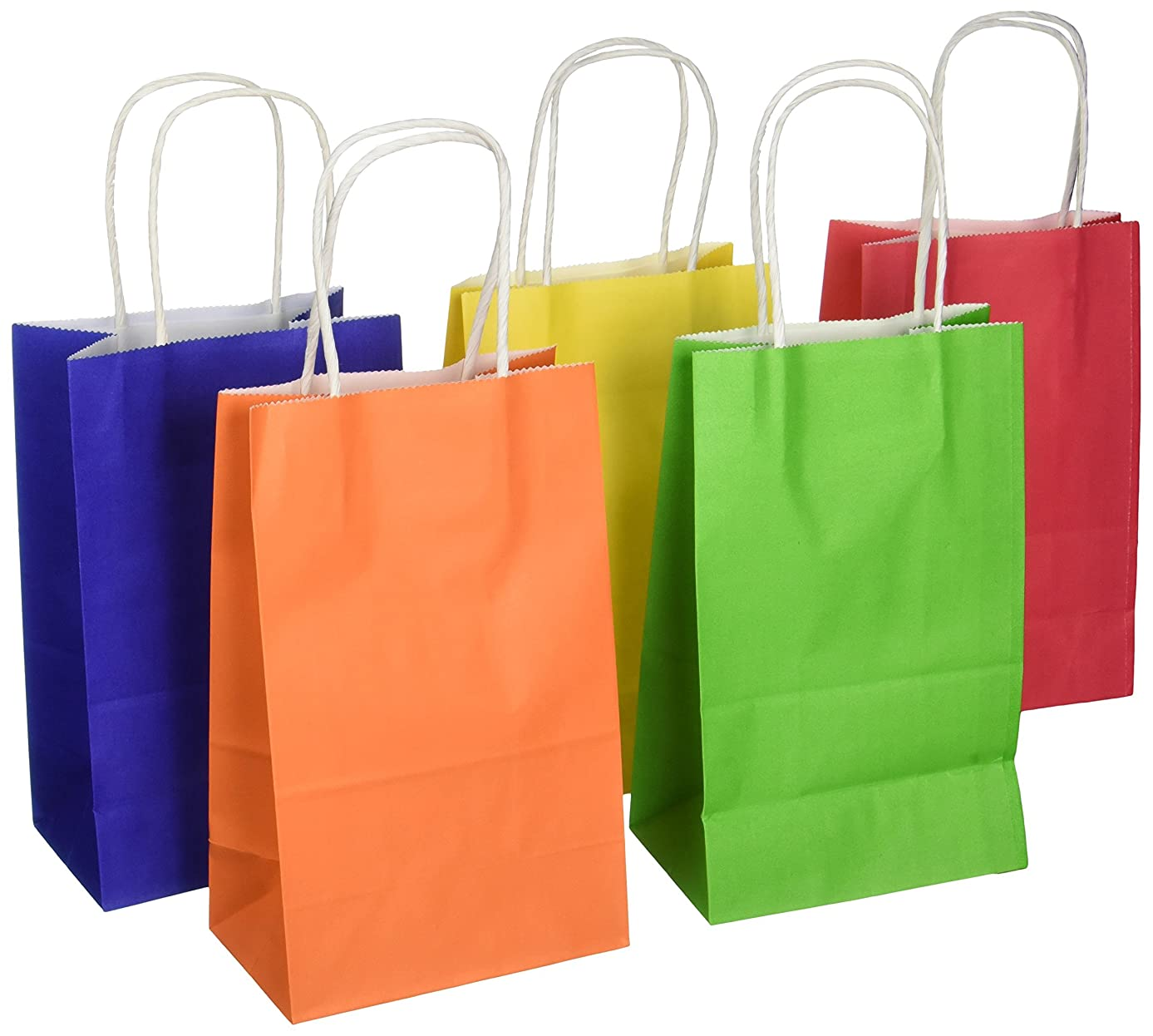 Darice BAG247 13Piece, Primary Color Paper Bag, 3.25 by 5.25 by 8.375 inch
