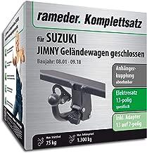 UT370COR31ZFM//WU403DE1 UmbraRimorchi Feste Starr Anh/ängerkupplung mit 13-poligem C2 E-Satz f/ür Suzuki Jimny Mini SUV 2018