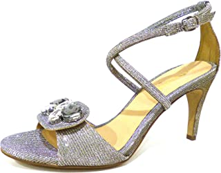 itSandali Borse Tacco Glitter ArgentoScarpe Con Amazon E J1FTclK