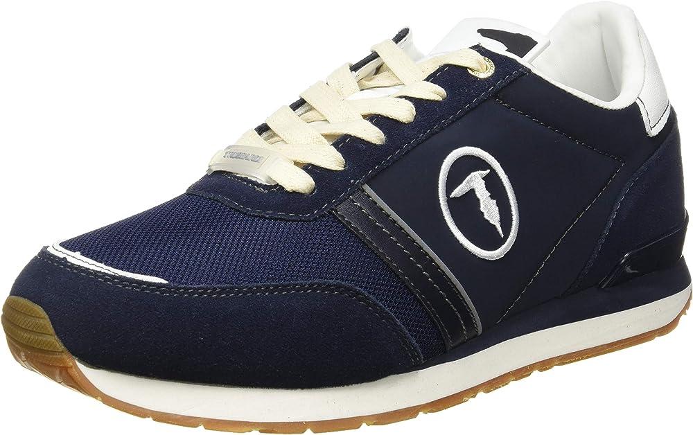 Trussardi jeans scarpe sneakers per uomo,in pelle sintetica 77A00342-9Y099998