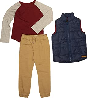 Buffalo David Bitton Little Boys' 3-Piece Top,Pant, and Outerwear Set (Green Bomber, 7)