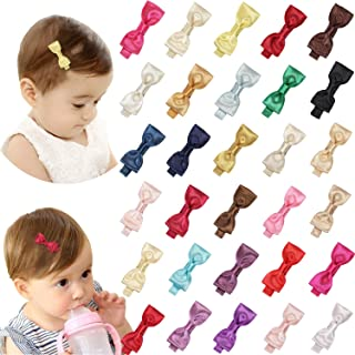 Hair Bows Clips Tiny Glitter with Boutique Fully Lined Alligator Accessories for Toddlers and Baby Girl 2inch 30pcs