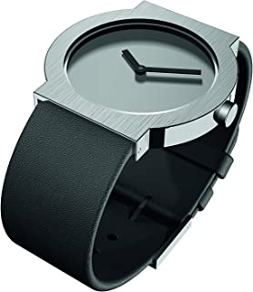 RS43280 Black Leather Strap LCD Watch