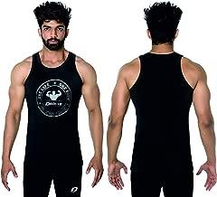 Decisive Fitness Mens Dry-Cool SuperKnit Engineered Bodybuilding Muscle Stringer Vest Weight-training Y-Back Racerback 2 Tone Melange Athletic Tank Top