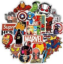 Superheros Stickers 100 Pack, Cool Marvel Avengers Cartoon Comics Vinyl Waterproof Sticker for Laptop Hydro Flasks Water Bottle Hydroflask Waterbottles Luggage Skateboard, Gift for Kids Boys Christmas