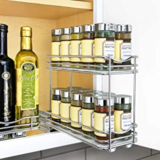Lynk Professional 430422DS Slide Out Double Spice Rack Upper Cabinet Organizer-4-inch, 4
