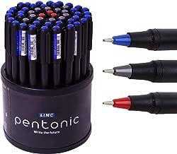 LINC Pentonic Premium Ball Point Pen, 50 pen Tumbler (0.7mm (Blue, Black & Red))