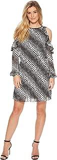 Michael Michael Kors Womens Chiffon Cold Shoulder Cocktail Dress