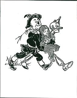 Vintage Photos Press Photo Author Book Wizard Oz Puppy Scare Scrow Dorothy Cartoon 8X10