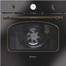 Candy FCC604GH/E Horno vintage multifunción, 65l, reloj analógico, puerta doble cristal, ventilador tangencial, A+, Hierro fundido y dorado