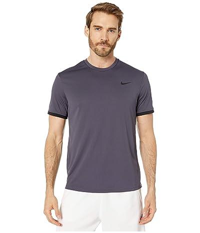 Nike NikeCourt Dri-FIT Short Sleeve Tennis Top (Gridiron/Black/Black) Men
