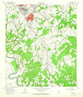 Wellborn TX topo map, 1:24000 Scale, 7.5 X 7.5 Minute, Historical, 1961, Updated 1965, 27 x 23.1 in