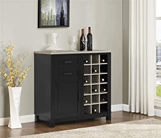 Ameriwood Home Carver Bar Cabinet, Black