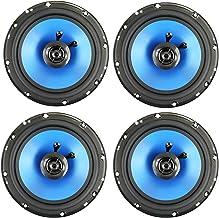 "QPower 6.5"" 300W 2-Way Blue Car Audio Stereo Coaxial Speaker Set, 4pk | QP650 photo"