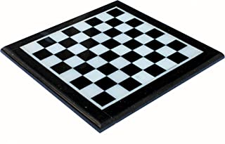 """StonKraft 12"""" X 12"""" Collectible Black Natural Granite Stone & White Marble Chess Board Without Pieces - Appropriate Wooden..."""