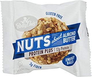 Betty Lou's Energy Balls, Almond Butter, 1.7 Ounce (Pack of 12)