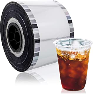 Juvale Clear Cup Sealer Film for Bubble Boba Tea, Fits 3.5-4.2 Inch Diameter Cups, 1300 Feet
