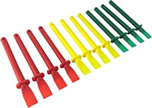 Bundle Taytools 500011 Set of 12 Easy Clean Glue Spreaders Polypropylene Plastic 6 Inches Long x 1/2 Inch Wide Tips